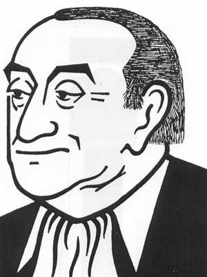 Karikatura Oldřicha Nového (autor: Ondřej Suchý)
