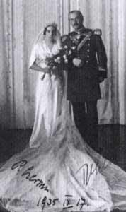 Svatební fotografie Rudolfa Czernina zroku 1935.