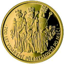 Pamětní medaile České mincovny k700.výročí vymření Přemyslovců