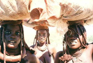 Namibia - ženy kmene Ovahimba