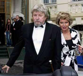 Miroslav Ondříček smanželkou Evou