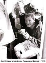 Jon Erikson mit seiner Trainerin Rosemary George – 1975