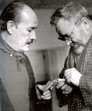 Jiří Voskovec aJan Werich - setkání všedesátých letech